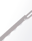 Eastman straight knife blade - convex - USA